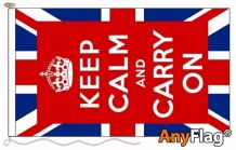 - KEEP CALM UK ANYFLAG RANGE - VARIOUS SIZES